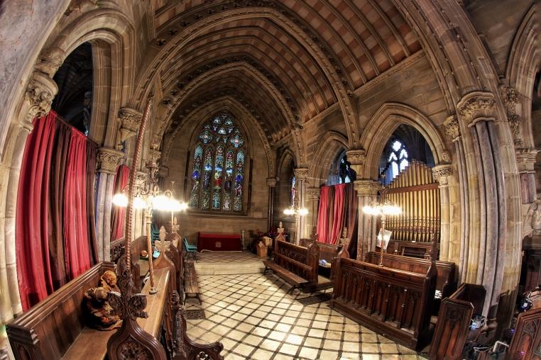 Dramatic gothic interior