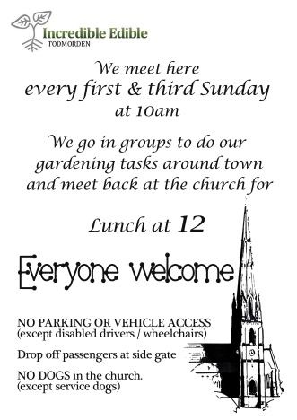 IET meet at church poster